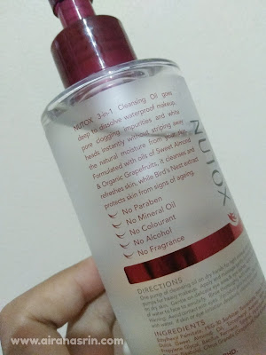 Review Nutox Cleansing Oil, Cleansing oil