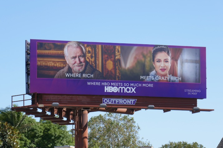 HBO Max Where Rich meets Cray Rich billboard