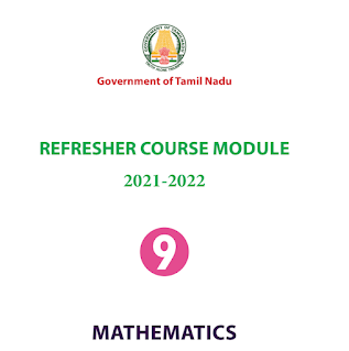 9th Maths Refresher Course Answer Key