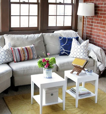 Living room furniture colors example