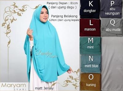 Jilbab Jumbo Maryam Syari Laudya Hijab