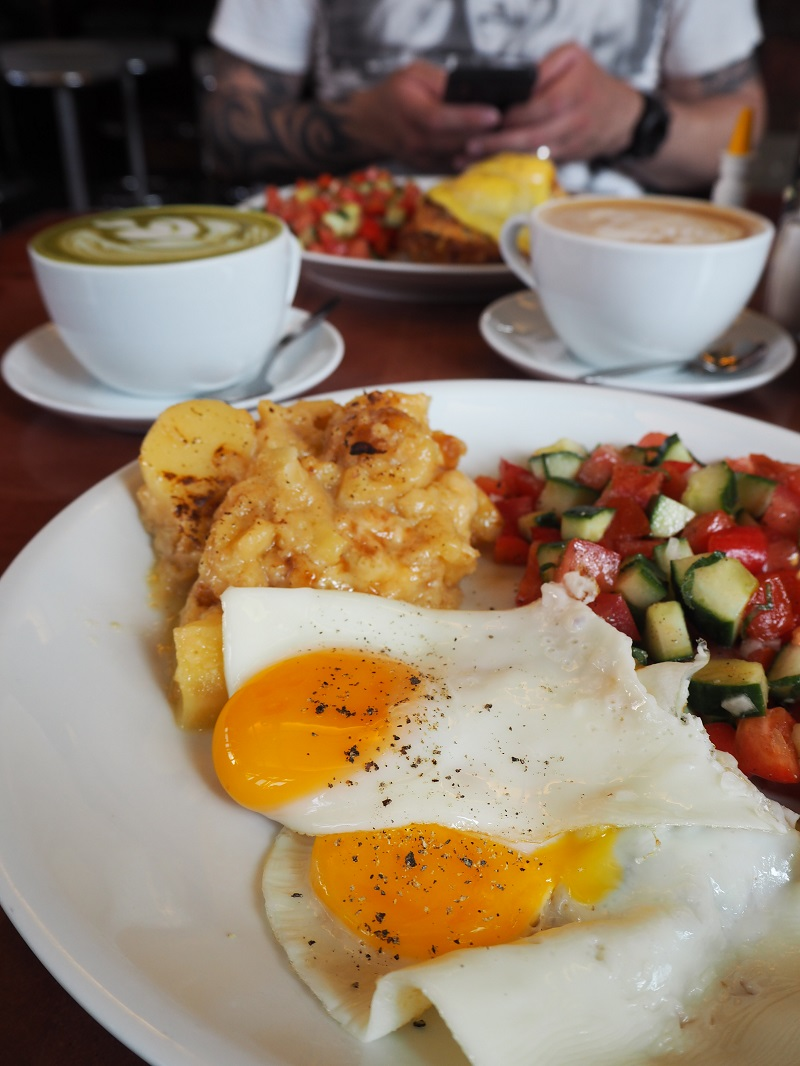 Sunny side up with potato gratin at House of Small Wonder