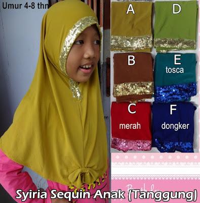 Model Jilbab Terbaru Syiria Sequin Anak