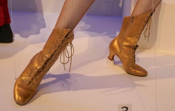 Zendaya Greatest Showman Anne Wheeler gold boots