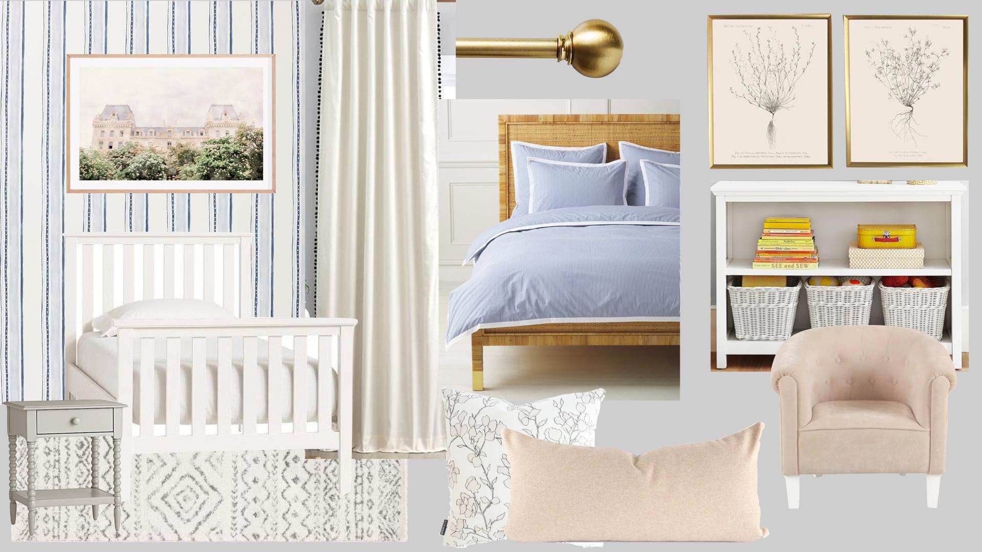 classic little girl bedroom, traditional kids bedroom, traditional big girl room