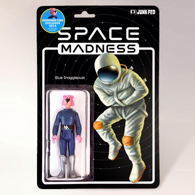 Designer Con 2014 Exclusive Blue Snagglepuss Bootleg Star Wars Resin Figure by Junk Fed
