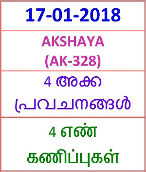 17 01 2018 4 NOSPREDICTION AKSHAYA (AK-328)