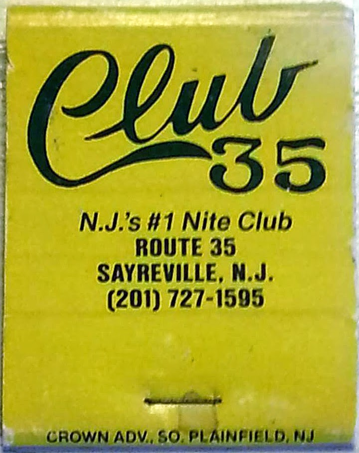 Club 35 matchbook