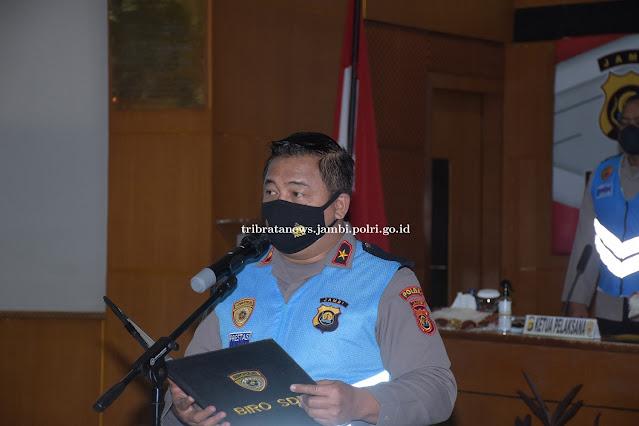 Wakapolda Jambi Pimpin Pengambilan Sumpah dan Pakta Integritas PKN dan STIK-PTIK