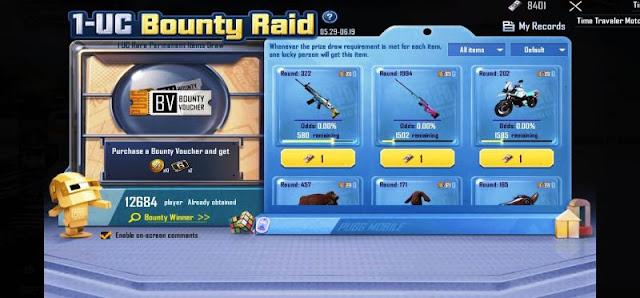 PUBG Mobile: 1 UC Bounty Raid etkinliği nedir?