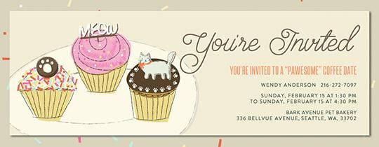 Evite cat invitation