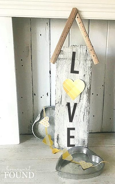 art,wall art,woodcrafts,re-purposing,up-cycling,salvaged,white,Pantone color of the year,colorful home,Valentine's Day,DIY,diy decorating,crafting,trash to treasure,winter,Illuminating Yellow,Ultimate Gray,gray and yellow decor,home decor,winter home decor, Valentines home decor,scrap wood crafts,painted,diy Valentine decor.