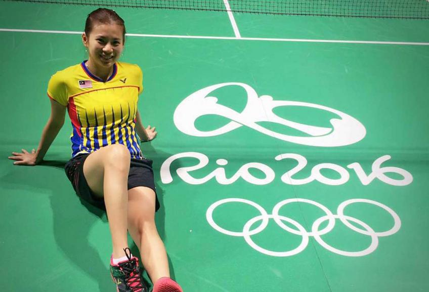 Malaysian Olympic badminton silver medallist Goh Liu Ying, 吴柳萤 (Wú liǔ yíng)