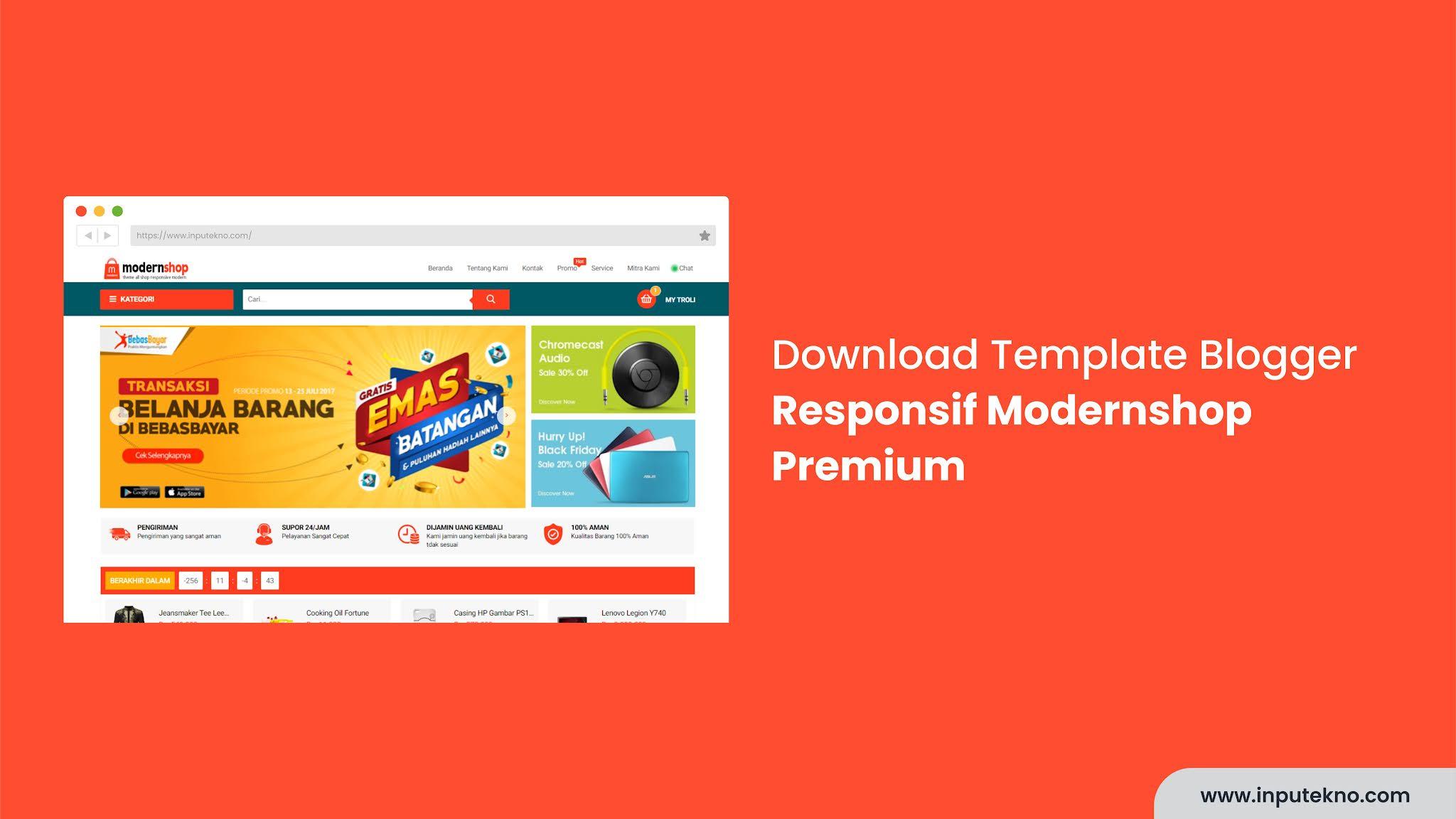 Template Shop Blogger Responsif Modernshop