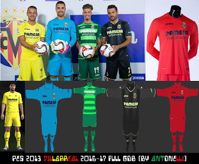 PES 2013 Villarreal 2016-17 Full GDB (BY ANTONELLI)