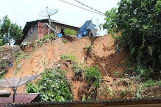 4 Rumah Warga Diterjang Longsor di Sibolga,  Kepala BPBD: Waspada Longsor Susulan