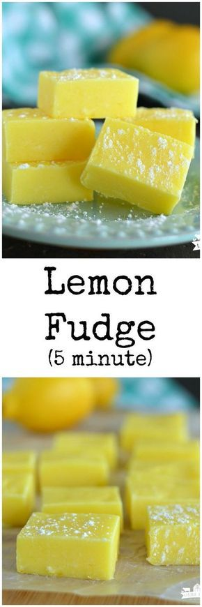 Lemon Fudge Recipe (Five Minute)