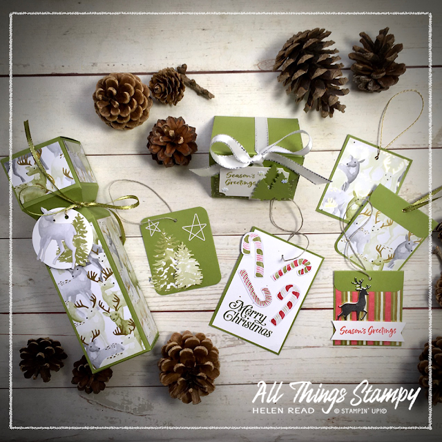 Christmas gift box free tutorial Stampin Up