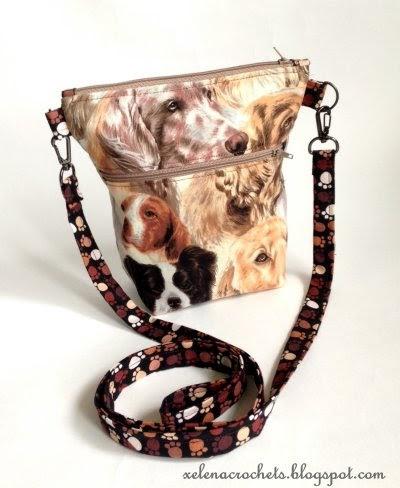 маленькая сумочка для прогулок с собакой