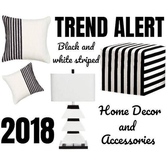 Black And White Striped Home Decor And Accessories
