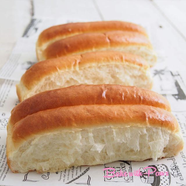 Soft Long White Buns