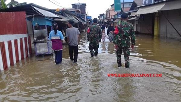 Koramil Tewang Sanggalang Garing Pantau dan Siaga Banjir