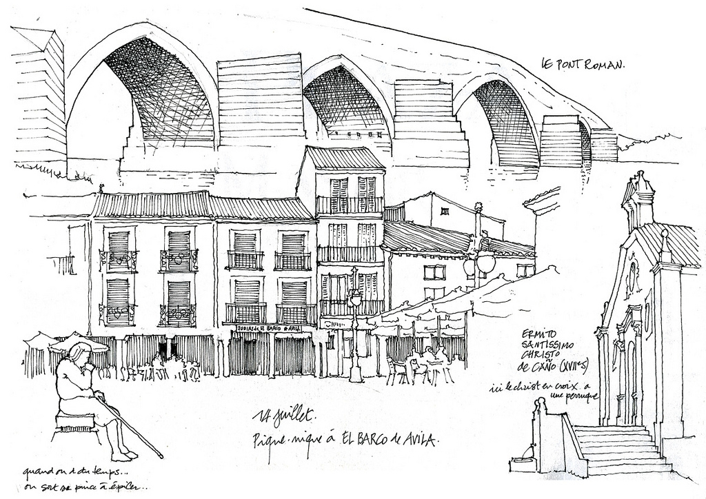 15-El Barco-de-Avila-Gérard-Michel-Urban-Architectural-Drawings-from-your-Teacher-www-designstack-co