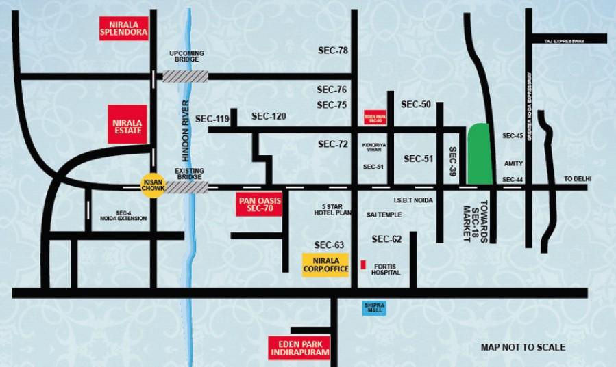 Nirala-estate-location-map