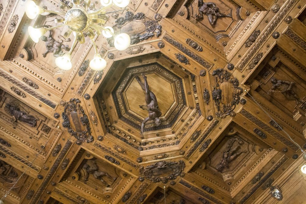 The anatomical theater in Bologna