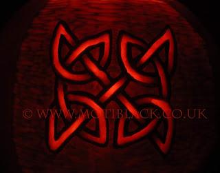 Celtic knot Carved on a Pumpkin
