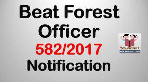 Beat Forest Officer 5822017 Notification