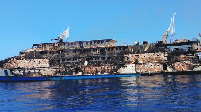 Kapal Motor Karya Indah Terbakar di Perairan Maluku Utara, 214 Penumpang Berhasil Dievakuasi