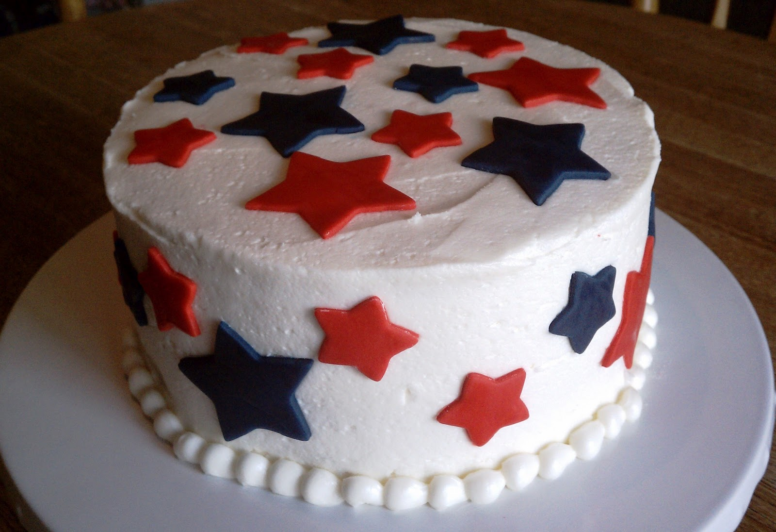 Simply Sweet Red White And Blue Layer Cake