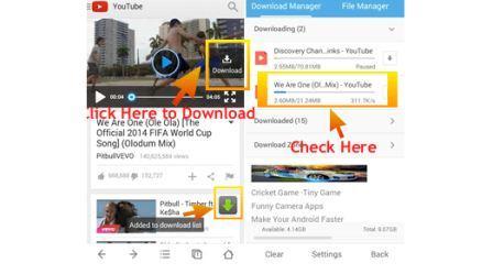 Cara Download Video di UC Browser