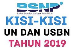 Download LENGKAP KISI-KISI UN dan USBN 2019 PDF SMP SMA SMK dari BSNP