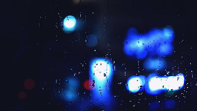 Glass, Blue, Water Drops, Liquid, Light, Macro