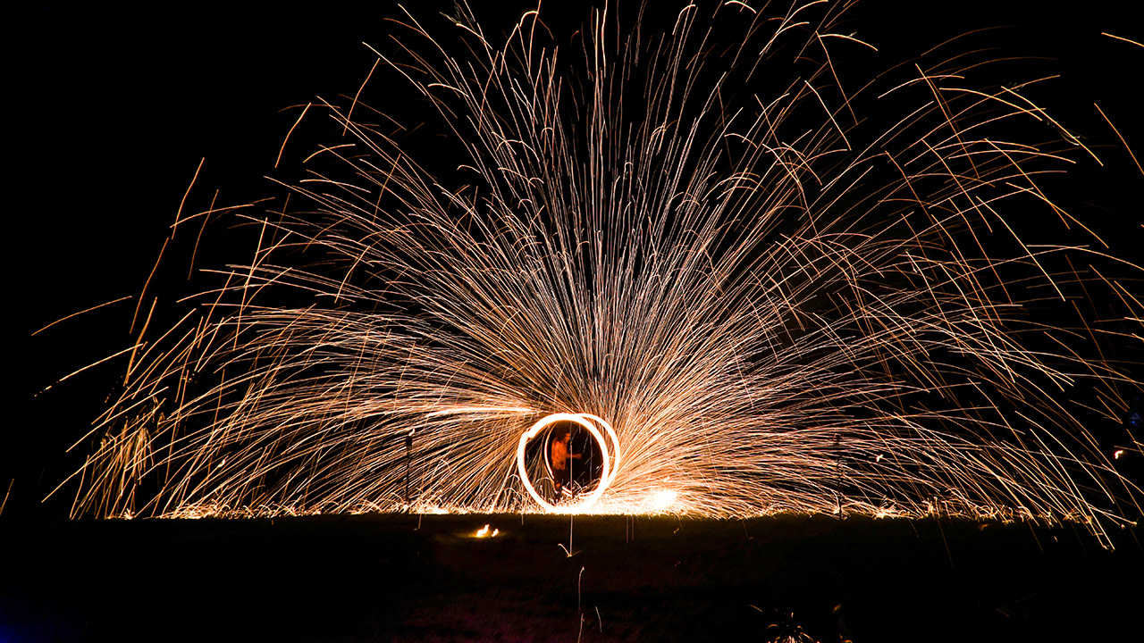 New Year 2021 Night Fire Show