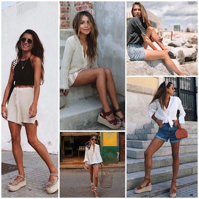 Shorts - Piernas de ensueño con sandalias de plataforma