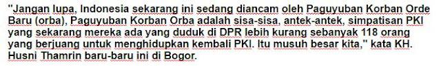 KH. Husni Thamrin : Hati-hati ada 118 Orang PKI di DPR! - Commando