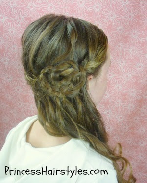 braided flower hairstyle