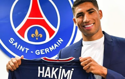 مقابل 60 مليون يورو باريس سان جيرمان يتعاقد مع حكيمي من إنتر ميلان
