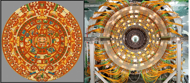The striking similarities between CERN and the LHC particle smasher and the Mayan calendar is uncanny.