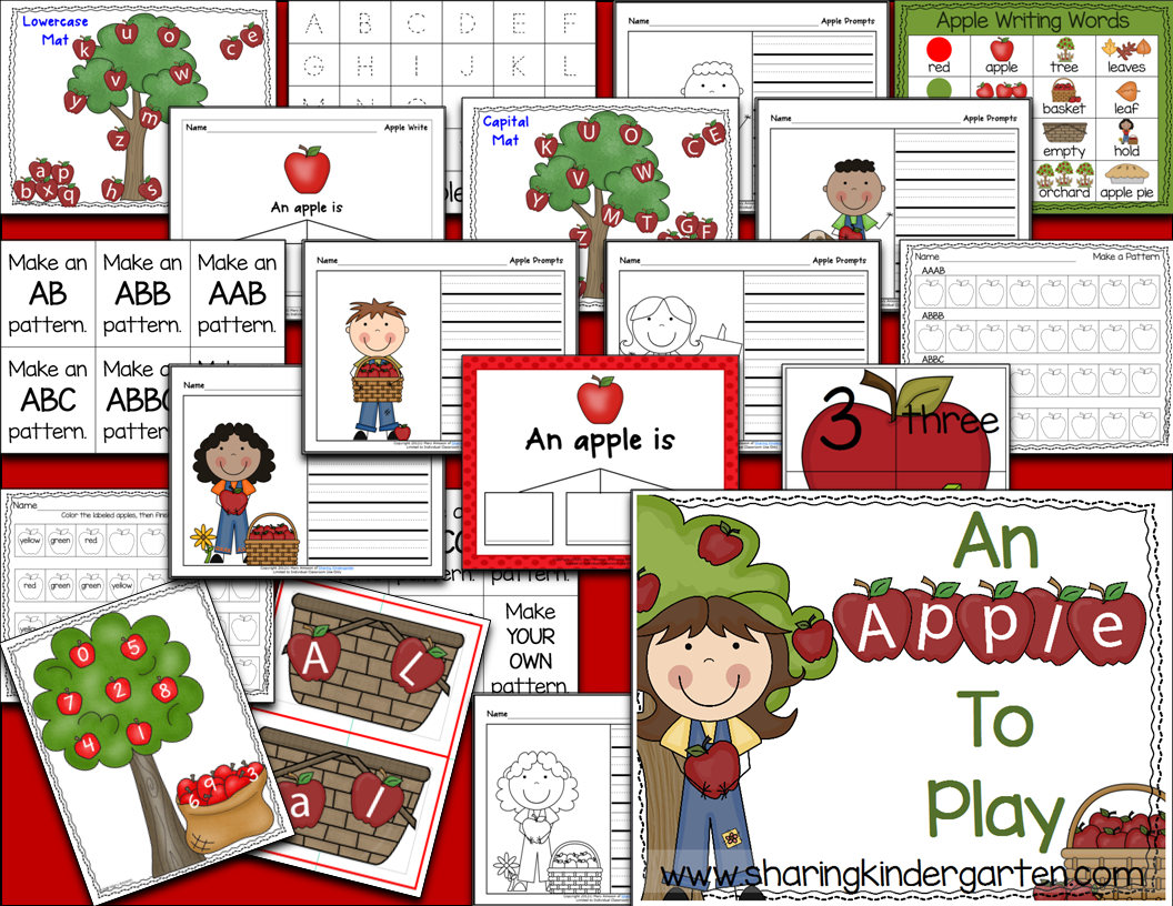 Sharing Kindergarten A Is For Apple