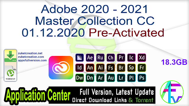 Adobe 2020 – 2021 Master Collection CC 01.12.2020 Pre-Activated