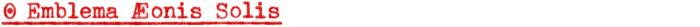 Emblema Æonis Solis
