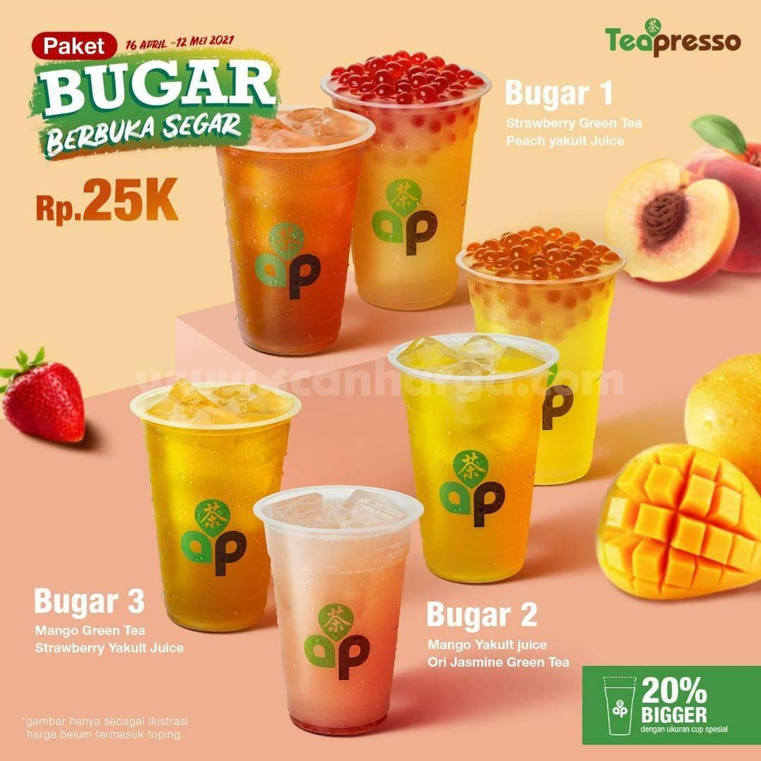 TeaPresso Promo PAKET BUGAR (Berbuka Segar) hanya 25K