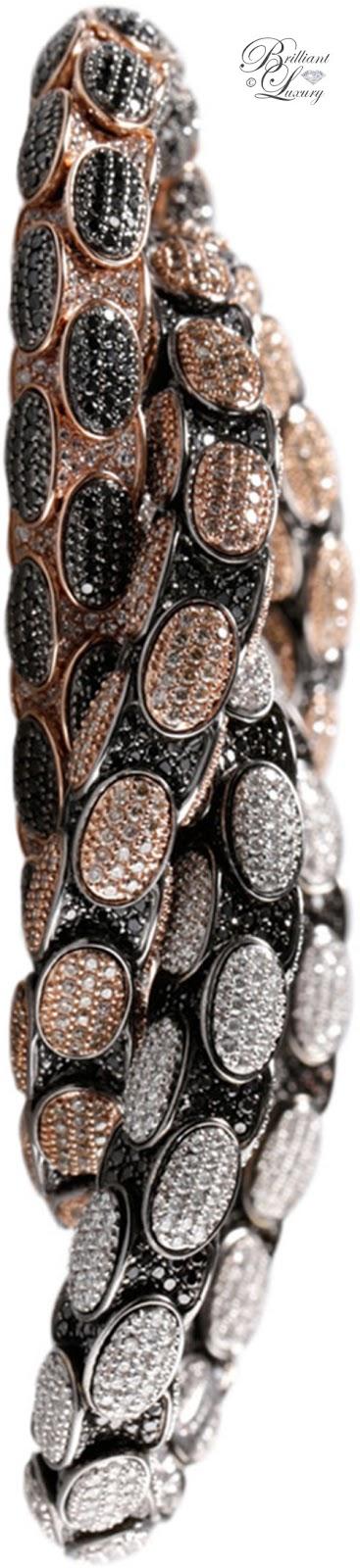 Brilliant Luxury ♦ Roberto Demeglio Anaconda Bracelet With Diamonds