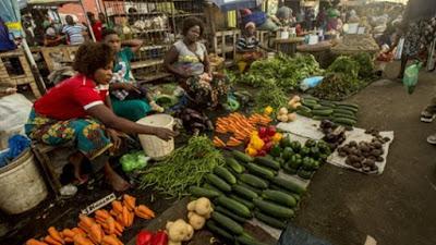 Vegetable seller at the streets of kangemi, Nairobi. PHOTO | BMS