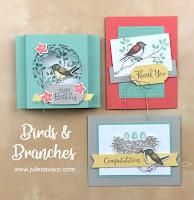 Stampin' Up! Birds & Branches Card Kit ~ 2020-2021 Annual Catalog ~ www.juliedavison.com
