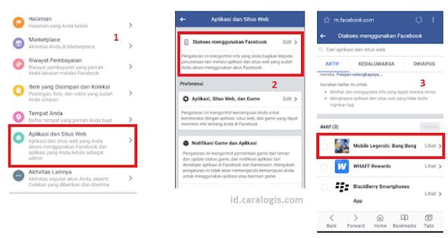 cara menghapus riwayat mobile legend pada akun facebook